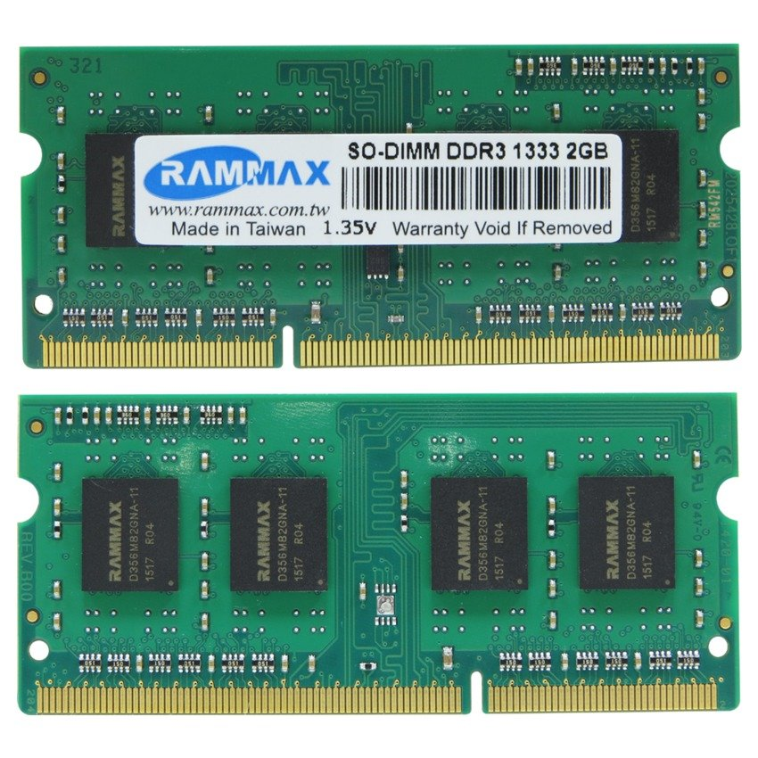 RAMMAX DDR3 1333MHZ 2GB SO-DIMM RAM (2-in-1)
